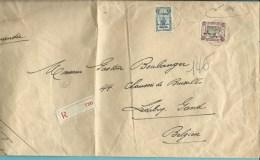 BZ46 (164 Perron Luik)+BZ50 (Dendermonde) op brief SM aangetekend met stempel PMB 1