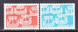 DENMARK  454-5    **  NORDIC  CO-OP  SAILING  SHIPS - Denmark