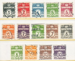DENMARK  220-30   (o)  1933-40  Issue - Used Stamps