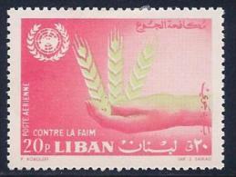 Lebanon, Scott # C371 Mint Hinged Freedom From Hunger, 1963 - Lebanon