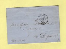 Cachet Taxe 30c - Bureau K - 20 Oct 1856 - Marcophilie (Lettres)