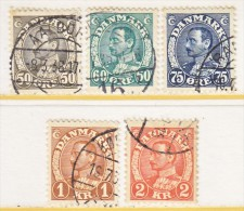 DENMARK  239-42     (o)  1934  Issue - Used Stamps