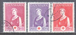 DENMARK  B 9-11     (o)   RED  CROSS - Used Stamps