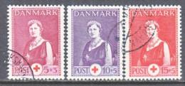 DENMARK  B 9-11     (o)   RED  CROSS - 1913-47 (Christian X)