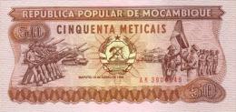 MOZAMBIQUE P. 129b 50 M 1986 UNC - Mozambique