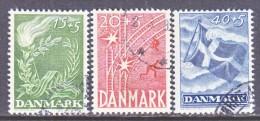 DENMARK  B 15-17  (o)   LIBERTY - 1913-47 (Christian X)