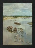 East Pakistan Bangladesh Picture Postcard Bamboo Rafts In Karnafuli River View Card - Bangladesh