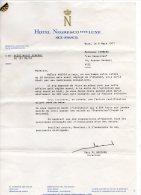 Lettre Du Secretariat -de Hotel Negresco - NICE 1977 - Ohne Zuordnung