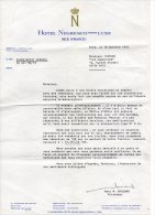 Lettre Du Secretariat -de Hotel Negresco - NICE  1976 - Ohne Zuordnung