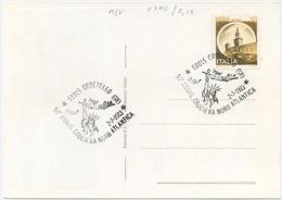 ITALIA 1983 CROCIERA NORD ATLANTICA ORBETELLO 50° ANNIVERSARIO CARTOLINA UFFICIALE SAVOIA MARCHETTI S.55X (6590) - Aerei