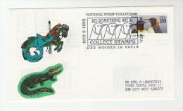 1993 Des Moines USA Bird  PENGUIN EVENT Pmk COVER  Illus CROCODILE  LABEL Birds Stamps - Penguins