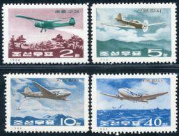Korea 1966, SC #722-28, Aircrafts - Transporte