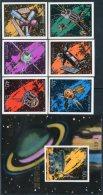 Korea 1976, SC #1446-52, Imperf 6V+S/S, Day Of Space Flight - Astronomy