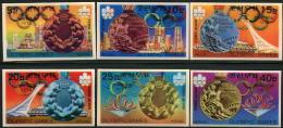 Korea 1976, SC #1550-55, 3D, 21st Olympic Games - Summer 1976: Montreal