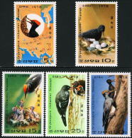 Korea 1978, SC #1751-55, Woodpecker Birds, Nest - Vögel
