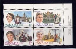 CANADA, 1981, #882a, CANADIAN FEMINISTS: STOWE, SAINT JEAN, EDWARDS & McKINNEY, - Blocs-feuillets