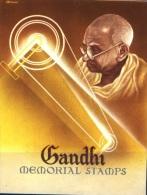 MAHATMA GANDHI-1948-SET OF 3 ON INFORMATION FOLDER-SCARCE-G1-93 - Mahatma Gandhi