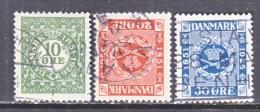 DENMARK  178-80   (o) - 1913-47 (Christian X)