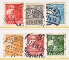 DENMARK  192-7   (o)   1927  Issue - Used Stamps