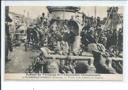 PLONEVEZ-PORSAY-Visite D'un Navire De Guerre-Colonie De Vacances De L'Association Championnet - Plonévez-Porzay