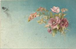 CPA DOS SIMPLE COLORISEE - Bouquet De Fleurs - ENCH - - Fleurs, Plantes & Arbres