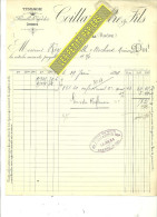 69 - Rhône - THEL - Facture COILLARD - Fabrique De Cotonnades - Tissage – 1896 - REF 181 - 1900 – 1949