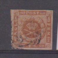 Danemark //  N 8  //  4 S Brun  //  Oblitéré  // - 1864-04 (Christian IX)