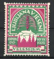 Reklamemarke Ljubljana, Vjeseni 1928, Silhouette Der Stadt - Vignetten (Erinnophilie)