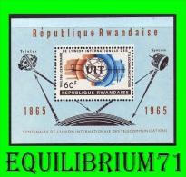 BL4** (111A) Centenaire De L'U.I.T. II / 100 Jaar Internationale U.I.T. II  - RWANDA - 1962-69: Neufs