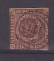 Danemark //  N 2  //  4 S  Brun //  Oblitéré  //   Côte 60 € - Gebraucht