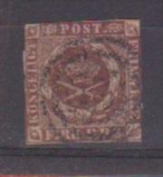 Danemark //  N 2  //  4 S  Brun //  Oblitéré  //   Côte 60 € - 1864-04 (Christian IX)