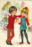 Couple Enfants-tissu Ajouti-cpm Ste Catherine - A Systèmes