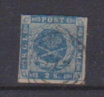 Danemark //  N 3  //  2 S  Bleu //  Oblitéré  // - Gebraucht