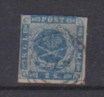 Danemark //  N 3  //  2 S  Bleu //  Oblitéré  // - 1864-04 (Christian IX)