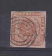 Danemark //  N 4  //  4 S  Brun //  Oblitéré  // - 1864-04 (Christian IX)