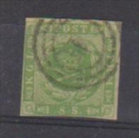 Danemark //  N 5  //  8 S  Vert   //  Oblitéré  // - 1864-04 (Christian IX)