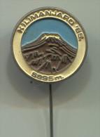Alpinism, Mountaineering, Climbing - KILIMANJARO, Vintage Pin  Badge - Alpinism, Mountaineering