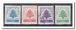 Libanon 1954, Postfris+plakker+gestempeld, MNH+MH+USED, Trees - Lebanon