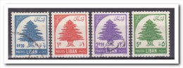 Libanon 1955, Plakker+gestempeld, MH+USED, Trees - Libanon