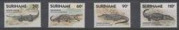Suriname Yv 1112/5  XX Neufs - Crocodiles -