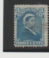 Neufundland  Mi.Nr. 24/ 1873, 3 C. Victoria Mint (no Gum) - 1865-1902