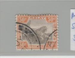 MLY (Fed.) SG No. 74  MALYSIA - / Tiger, 50 C. - Federation Of Malaya
