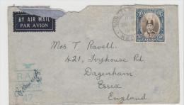 Mly Kedah 029/ MALYSIA -  SG No. 61 On Censored Cover To UK 1941 - Before Jap. Occupation - Kedah