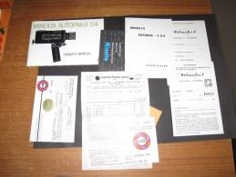 MINOLTA AUTOPAK-8 D4 - Owner's Manual  + Divers Papiers - - Photographie