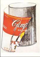 A8 FAMOUS ILLUSTRATION BY ANDY Warhol – Big Torn Campbells´ Coup Can - Illustrazione, Illustrè / Non Viaggiata - Warhol, Andy