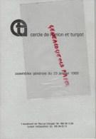 87 -LIMOGES - CERCLE DE L' UNION ET TURGOT- ASSEMBLEE GENERALE 29-1-1983- DESFARGES- JUDE- BEAULIEU- BROUSSE-COSTES - Limousin