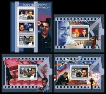 GUINEA 2007 - Cinema: Clooney, Cruise, Pitt - YT 3044-6 + BF648-50, Mi 4950-2 + B1323-5 - Film