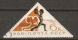 URSS       -     1966.    HALTEROPHILIE    /     Triangle   .   Oblitéré - Pesistica