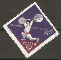 POLOGNE      -     1964      HALTEROPHILIE     .   Oblitéré - Pesistica