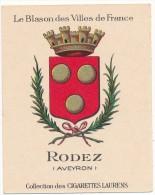 Cigarettes Laurens - Blason Des Villes De France - Rodez  (12) - Cigarette Cards